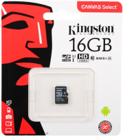Карта памяти microSDHC 16Gb KINGSTON Canvas Select Class 10 UHS-I U1 80Mb/s без адаптера