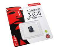 Карта памяти microSDHC 32Gb KINGSTON Canvas Select Class 10 UHS-I U1 80Mb/s без адаптера