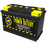Автомобильный аккумулятор Тюмень 90Ач Standard (обратная) в Череповце — купить в интернет-магазине 12 Вольт | 46693